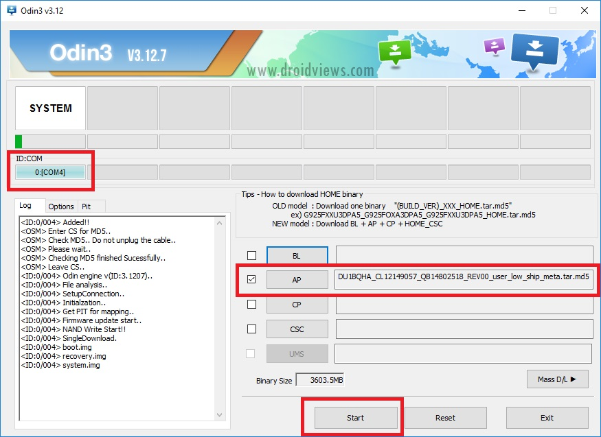 samsung g610f flash file tested